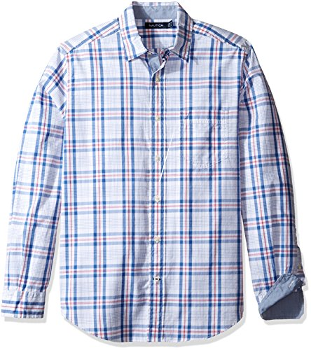 nautica-mens-long-sleeve-white-ground-plaid-button-down-shirt-rose-coral-large