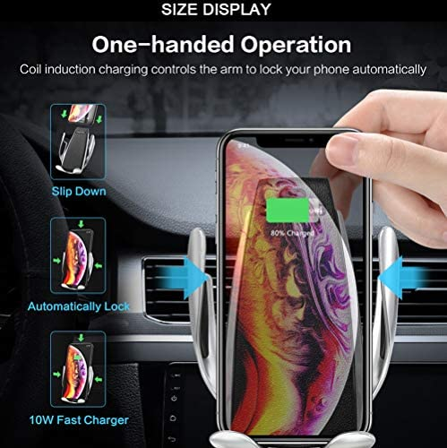 Rdjm 10pcs Wireless Charger Auto Handyhalterung 2 In 1 Automatisch Schwerkraft 10w 7 5w Lüftung Handyhalter Fürs Auto Qi Ladestation Für Iphone Xs Xr X 8p Samsung S10 S9 S8 Qi Fähige Sport Freizeit
