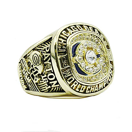Men Payton 1985 Chicago Bear Champion Ring in Titanium Steel, Size 9
