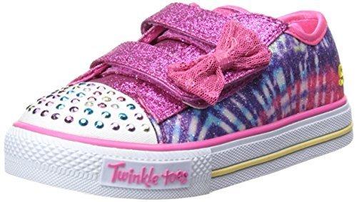 Skechers Infant/Toddler Girls' Twinkle Toes Shuffles Lil Rainbow Sneaker,Multi,U by Skechers