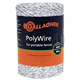 Gallagher G620044 Electric Polywire Fence, 656-Feet, White