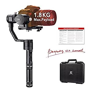Zhiyun Crane V2 (Classic Model) 3-Axis Handheld Gimbal Stabilizer for Mirrorless Camera and DSLR Range from 0.77 Lb to 3.96 Lb, i.e. Canon M, Nikon J, Sony A7 and Panasonic GH4