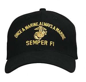 Rothco Low Profile Cap/Marine Semper Fi - Black