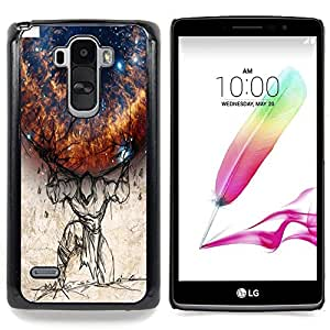 Planet On Shoulders Caja protectora de pl??stico duro Dise?¡Àado King Case For LG G Stylo / LG LS770 / LG G4 Stylus
