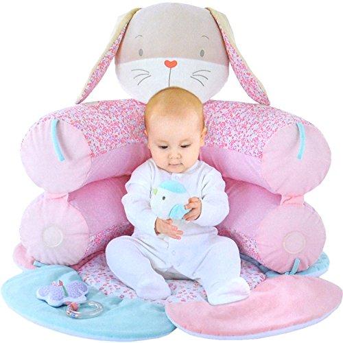 MOTHERCARE Baby Design-Kuschelnest Erlebnisdecke Krabbeldecke Spieldecke Hase rosa My little garden