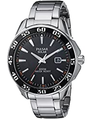 Pulsar Mens Quartz Stainless Steel Casual Watch, Color:Silver-Toned (Model: PX3121)