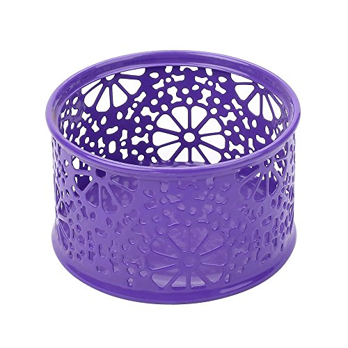 Crystallove Metal Mesh Office Supplies Desk Organizer, Purple-Style 2, Set of 3 by Crystallove (Image #2)