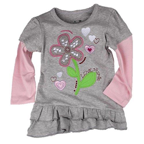 Babytree Girls Kids Cartoon T-Shirts Cycling Rabbit Striped Tops