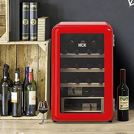 JYXJJKK Vinoteca refrigerada Retro Enfriador de vinos Electronic Wine Cooler Home Kitchen Restaurante Refrigerado Vino refrigerador Sala de Estar Hotel Villa Electronic Constant Tempere Wine Cooler