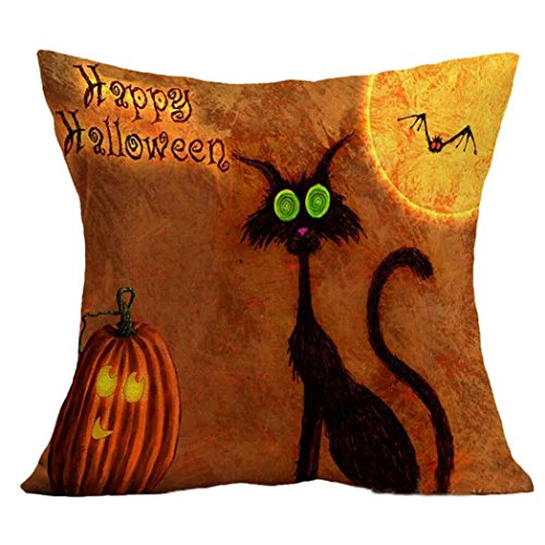 [Charberry Halloween Square Pillow Cover Cushion Case Pillowcase Zipper Closure (A)] (Horror Makeup Value Kit)