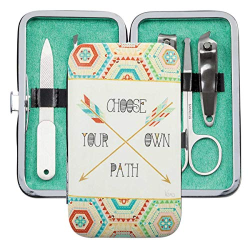 Brownlow Gifts Simple Inspirations 6-Piece Stainless Steel Manicure Set with Case, Choose Your Own Path