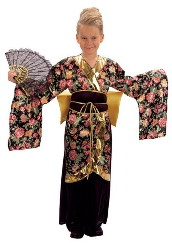 Japanese Kimono Geisha Girl Childs Fancy Dress Costume - L 146cms - Fancy Dress Geisha