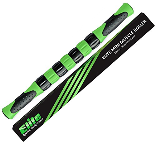 Calf Tail (Elite Massage Roller Stick Targets Sore, Tight Leg Muscles to Prevent Cramps and Release Tension. It's Sturdy, Lightweight, Smooth Rolling and Thankfully this Lifesaver has Comfortable Handles.Green)
