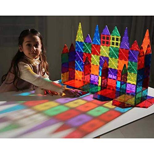 Magnetic Building Blocks 82 Pcs, Magnetic Tiles Educational Construction Toys for Boys and Girls with Giftbox (82 PCS) by Baobe (Image #5)