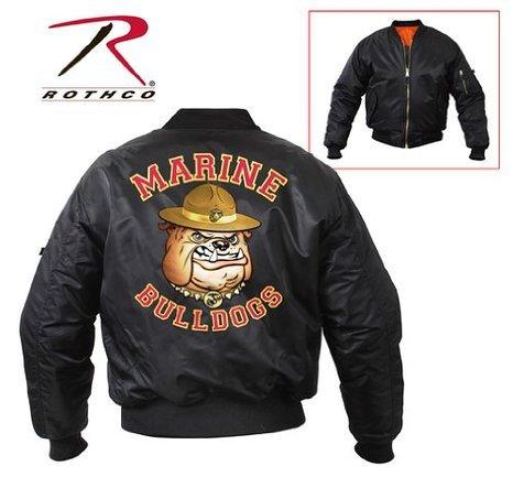 - Rothco atMa-1 Flight Jacket, Marine Bulldog, Large