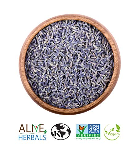 Organic Lavender Flowers Grade A- 4oz. - 100% Raw, Vegan, Kosher, Non-GMO. Origin France- Resealable Bag