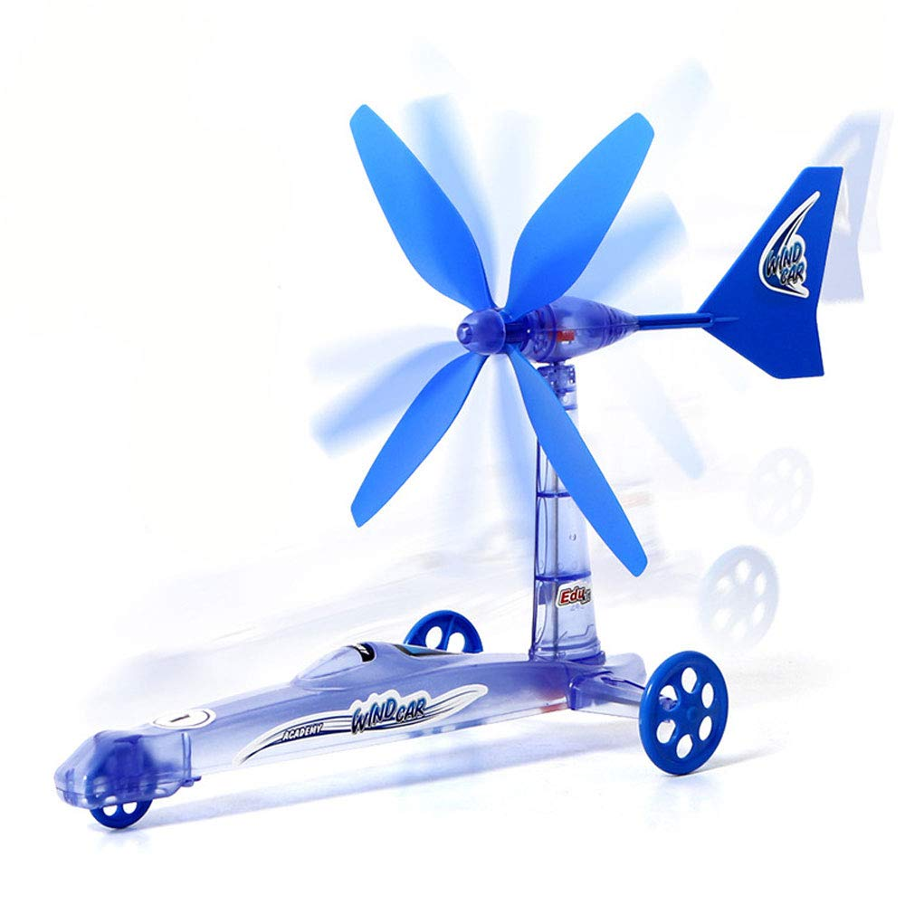 Wind Energy Powered Car Science STEM Toys,Childrens Educational DIY Toy Children/'s Educational DIY Toy Generic