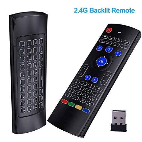 Ybee Air Remote Mouse MX3, 2.4G Backlit Kodi Remote Control ,Mini Wireless Keyboard & infrared Remote Control Learning, Best For Android Smart Tv Box HTPC IPTV PC Pad XBOX Raspberry pi 3 For Sale