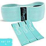 FITbum | Premium Bundle Non-Slip Resistance Loop Glute Band + 3 Latex Resistance Bands & Exercise Guide | Booty Band...