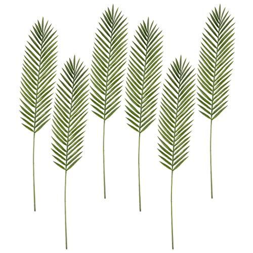 - Koyal Wholesale Artificial Tropical Green Phoenix Leaf Plant Stems, 37 Inches Bulk 6 Pcs Faux Phoenix Palm Leaves, Faux Palm Tree Sprays Wedding Greenery, Tropical Luau Party Decorations, Home Decor