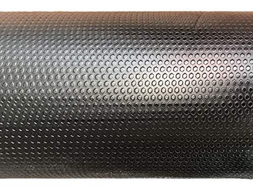 AMERIQUE 691322303407 Premium 3Rd Generation Unique and Durable Embossed Diamond Plate Metallic Vinyl Flooring, 4' x 12.5'/50 sq. ft, Black Diamond, Square Feet by AMERIQUE (Image #1)