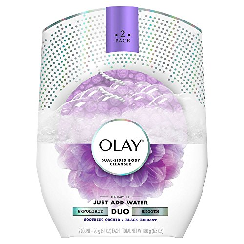 Olay Duo Dual-Sided Body Cleanser, Orchid & Black Currant