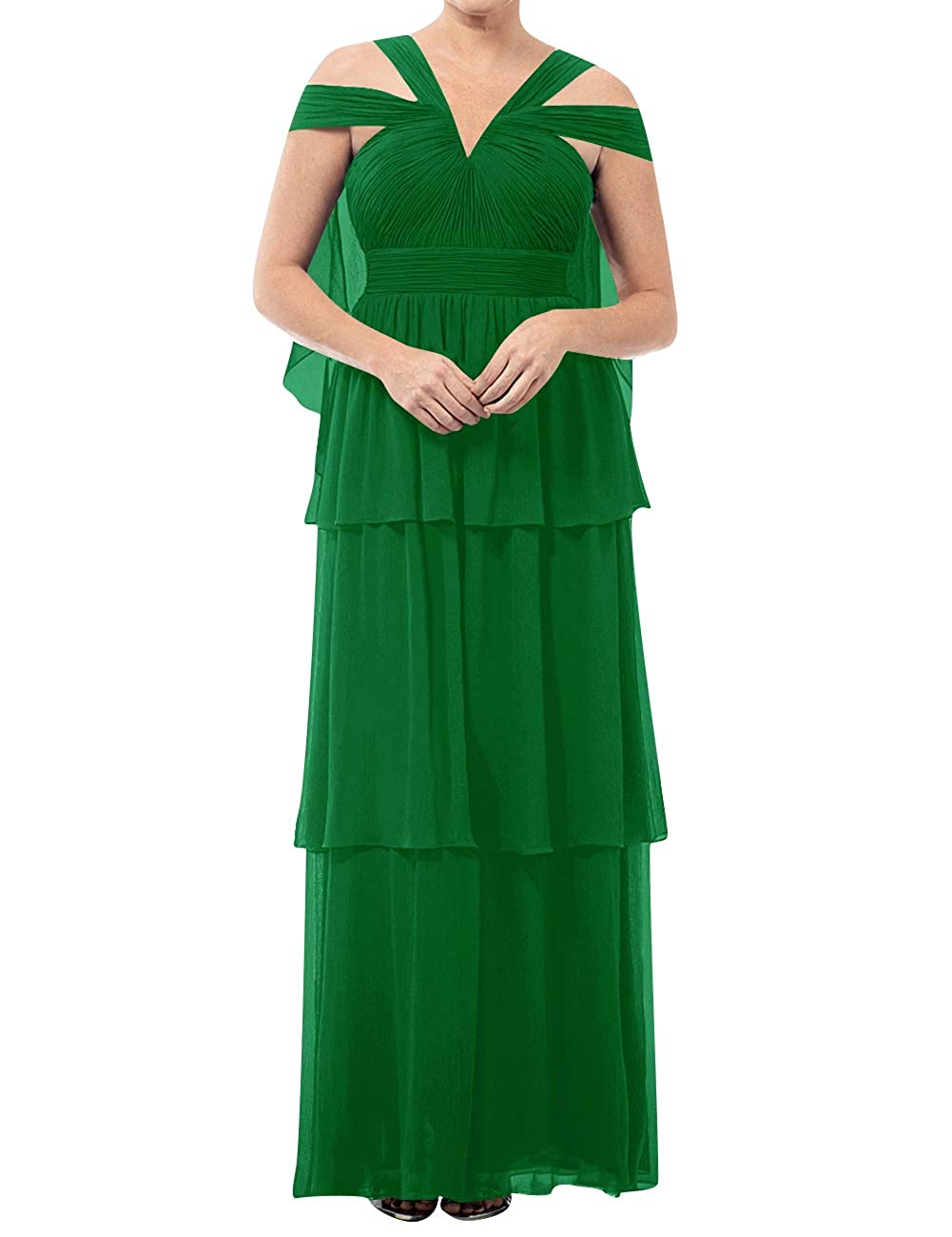 Green Mother of The Bride Dresses VNeck Long Mother of Groom Dress Plus Size Evening Gowns