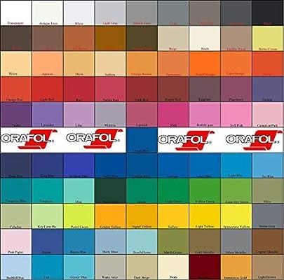 Oracal - Vinilo adhesivo para manualidades Oracal 631 para plotter de corte Silhouette, 30 x 152 cm, 91 colores a elegir: Amazon.es: Juguetes y juegos