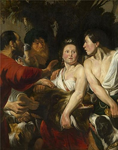 Oil Painting 'Jacob Jordaens I - Meleager And Atalanta,1618' 12 x 15 inch / 30 x 39 cm , on High Definition HD canvas prints is for Gifts And Dining - Costa Brine Readers