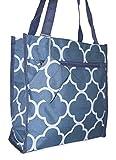 Ever Moda Quatrefoil Tote Bag (Grey)
