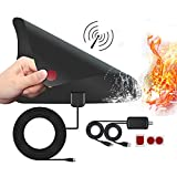 TV Antenna Digital HDTV with Detachable Amplifier Signal Booster 16FT Coaxial Cable Indoor Outdoor Over 60 Miles Range Support All Local Channels