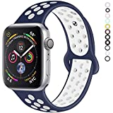 YOUKEX Band Compatible with Apple Watch 38mm 42mm 40mm 42mm Replacement Band Sport Straps Fit Series 1 2 3 4
