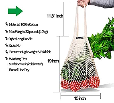 NetNeed Cotton Reusable Grocery Net Shopping String Bags
