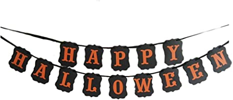 Unique Party 63493 Orange and Black Happy Halloween Banner Set of 2