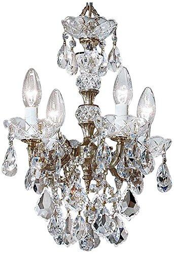 Classic Lighting 5544 RB C Madrid Imperial, Crystal Cast Brass, Mini-Chandelier, Roman Bronze