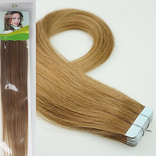"Qianren 16"" 18"" 20"" 22"" 24"" Tape In Real Human Hair Exten..."