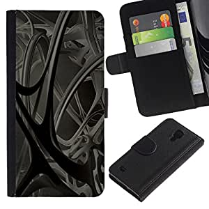 All Phone Most Case / Oferta Especial Cáscara Funda de cuero Monedero Cubierta de proteccion Caso / Wallet Case for Samsung Galaxy S4 IV I9500 // Abstract 3D