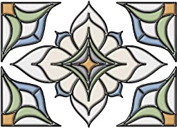 Brewster 93809 Brewster Alden Stained Glass Applique, 10.5-Inch by 7.5-Inch, Blue