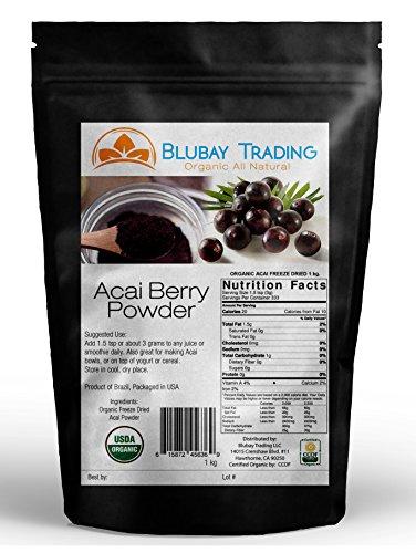 Acai Berry Powder Organic Pure Freeze Dried Wholesale 1 Kilo - 2.2 lbs