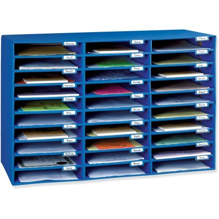 Classroom Keepers 30 Slot Mailbox, Blue (1, Blue)