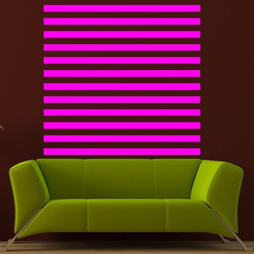Wall Decal Decor Decals Art Band Line Square Illusion Set (M544)