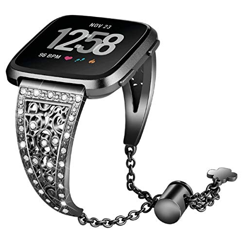 44mm 42mm Bling Bands Compatible for Apple Watch Band Iwatch Series 4/3/2/1, Women Stainless Steel Metal Jewelry Bracelet Bangle Wristband ()