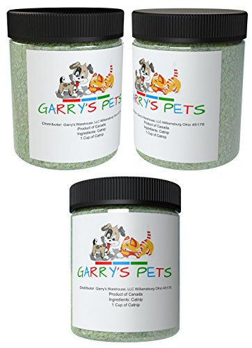 Garry's Pets Catnip - Our 3 Single Cups Maximum Potency Premium Blend Cat Nip That Your Cats Will Go Crazy Over
