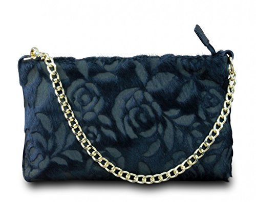 bella vintage collier main bag cross de rétro in italy sac véritable body en rose Made à noir sac soirée cuir 7TPqp0w