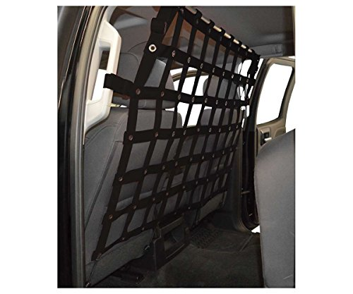 Dirtydog 4x4 Pet Divider fits GMC or Chev Super Crew and Extended Cab Pickup- Black (Dirtydog)