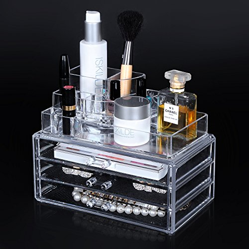 Songmics Acrylic Makeup Organizer Cosmetic Storage Display Boxes