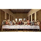 The Last Supper by Leonardo Da Vinci Art Print, 40 x 21 inches