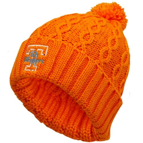 adidas Tennessee Lady Volunteers Ladies Tennessee Orange Cuffed Pom Cable Knit Beanie