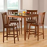 Mainstays 5-piece Counter Height Dining Set, Warm Cherry Finish