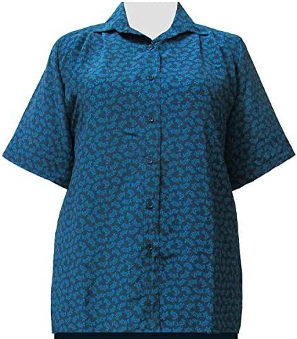 A Personal Touch Women's Plus Size Green Trinity Short Sleeve Tunic